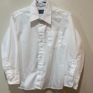 Chaps boys white button down shirt